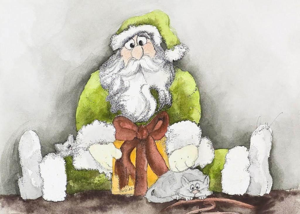 Siska and Nala Santa card